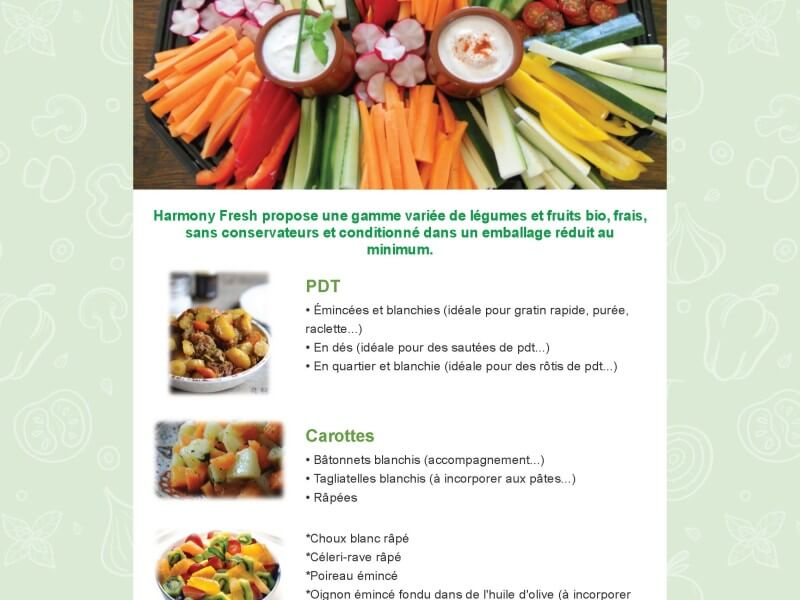 Newsletter Harmony Fresh