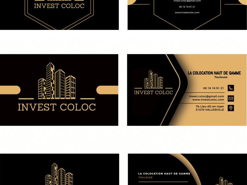 Carte de visite Invest Coloc